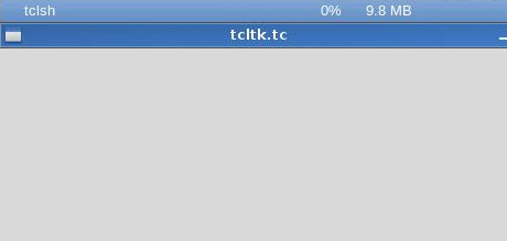 Tcl/Tk window